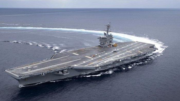 Ada Apa 3 Kapal Induk AS yang Bawa Ratusan Jet Tempur F-18 di Laut China Selatan?