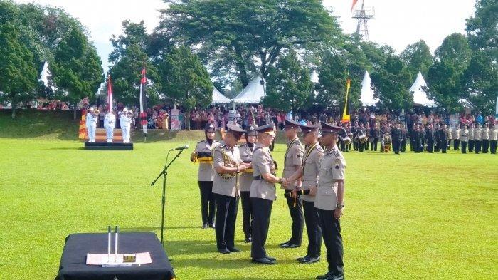 Bintara Polri Tahun Angkatan 2018 Polda Jateng Resmi Dilantik, SPN Purwokerto Cetak 320 Polisi Baru