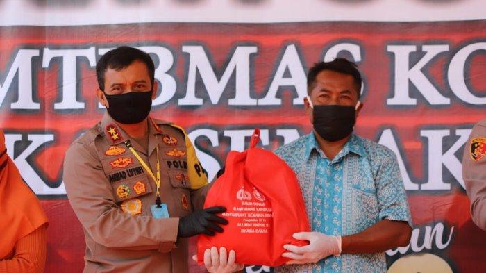 Alumni Akpol 91 Bagikan 1.000 Paket Sembako Bagi Warga Terdampak Covid-19 di Juwangi Boyolali