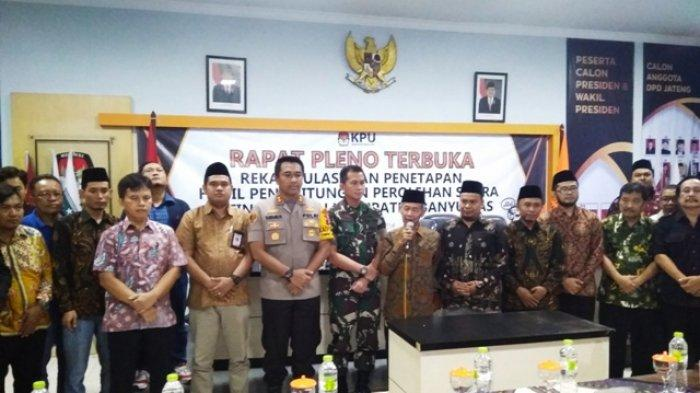 Kapolres Banyumas AKBP Bambang Yudhantara : Pleno Rekapitulasi Berjalan Transparan Jujur dan Adil