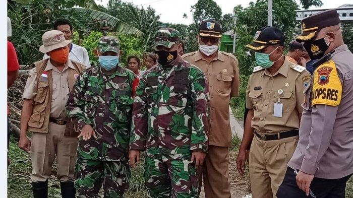 Didampingi Kapolres dan Dandim, Plh Bupati Demak Tinjau Lokasi Banjir di Mranggen