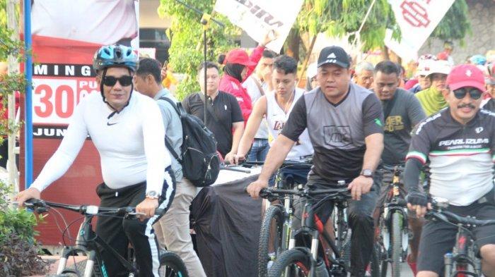 Peringati HUT ke-73 Bhayangkara, Polres Pati Adakan Fun Bike dan Lomba Memancing