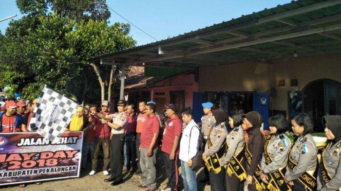 Di Pekalongan, Hari Buruh Diperingati dengan Jalan Sehat Bersama Polisi