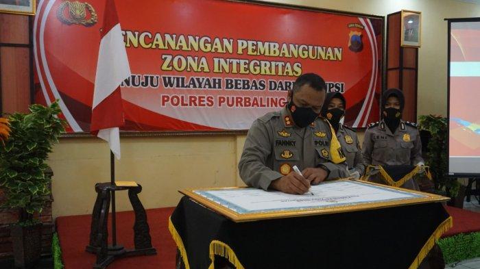 Polres Purbalingga Gelar Pencanangan Pembangunan Zona Integritas Menuju WBK