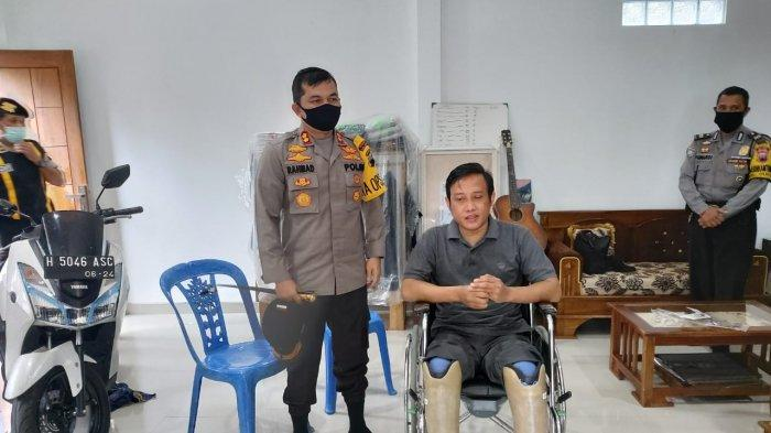 HUT Bhayangkara, Polres Salatiga Sumbang Kaki Palsu