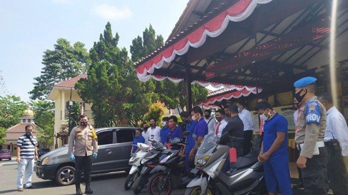 6 Pencuri Motor Ditangkap Selama Operasi Sikat Jaran Candi di Salatiga