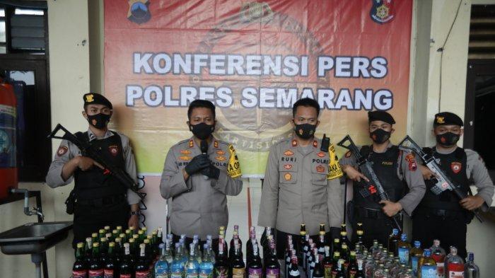 Polres Semarang Sita Ribuan Botol Miras dalam Operasi Lilin Candi 2020