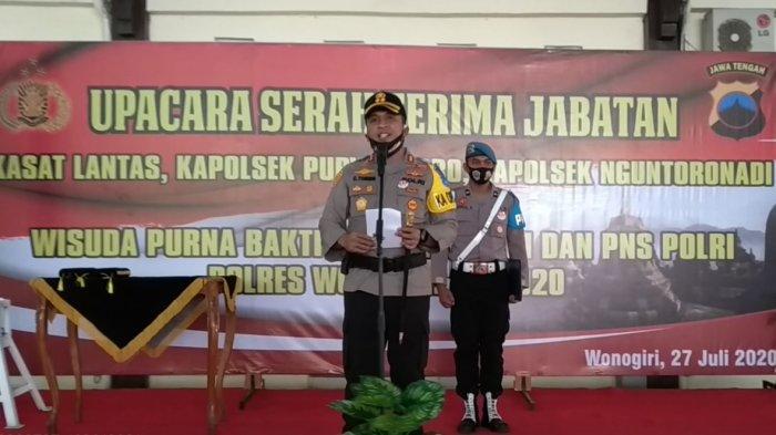 Kapolres Wonogiri AKBP Christian Tobing Pimpin Sertijab Kasatlantas dan 2 Kapolsek