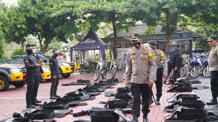 Kapolres Wonogiri Siagakan Pasukan lengkap dengan Peralatan untuk Antisipasi Unras Omnibus Law