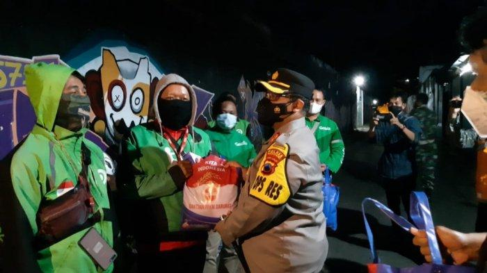 Polres Wonogiri dan Kodim 0728 Gelar Patroli Skala Besar Penerapan PPKM Level 4