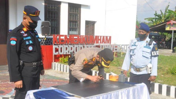 Polres Wonogiri Libatkan Warga Binaan Dalam Pembangunan Lapangan Tembak