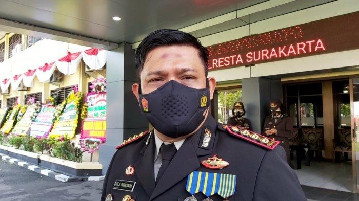 Kapolresta Solo Kombes Pol Ade Safri Simanjuntak saat ditemui usai peringatan Hari Bhayangkara di Mapolresta Solo, Kamis (1/7/2021)