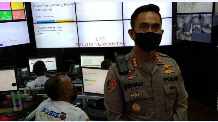 Kapolrestabes Semarang kombes Pol Irwan Anwar paparkan jumlah pemudik yang datang di Kota Semarang.