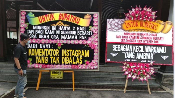 Dikirimi Karangan Bunga Berisi Kritikan Kebijakan di Rumah Saja, Bupati Husein: Itu Tanda Cinta