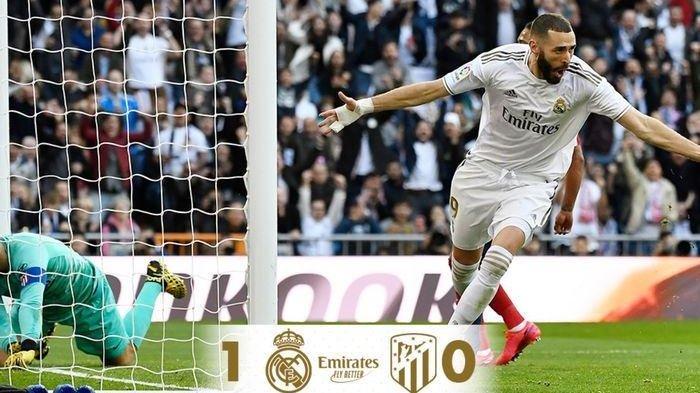 Hasil Liga Spanyol,Real Madrid vs Atletico Madrid:Karim Benzema Penentu Kemenangan Laga Derbi