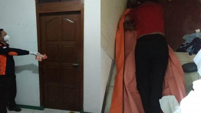 Karyati alias Riska (45) warga  Jepara ditemukan tewas di kamar mandi kos, RT 3 RW  4, Kalibanteng Kulon, Semarang Barat, Kota Semarang, Sabtu (8/5/2021).