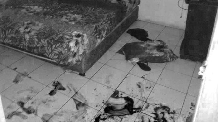 Penampakan Ranjang Ari Pratama Setelah Ditikam Pisau Aisyah Berulang, Kasur dan Lantai Penuh Darah