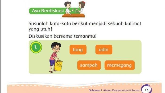 Kunci Jawaban Tema 8 Kelas 2 SD Halaman 14-19, Susunlah Kata-kata Berikut Menjadi Kalimat Utuh