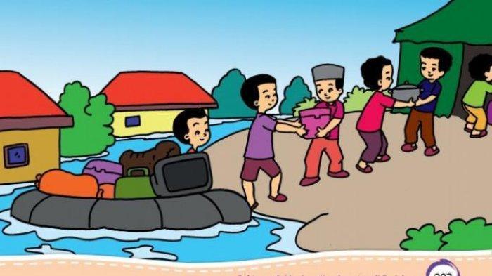 Kunci Jawaban Tema 8 Kelas 2 SD, Mengapa Bisa Terjadi Banjir & Apa Saja yang Dilakukan Saat Banjir