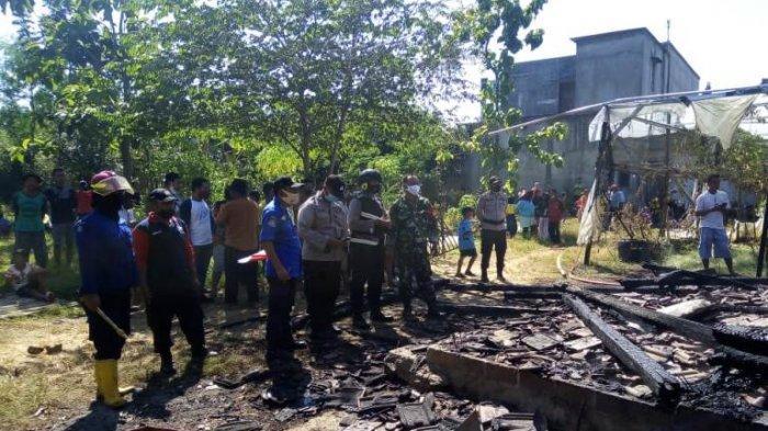Rumah dan Kandang Kambing Milik Winarno Warga Karangwotan Pati Ludes Terbakar
