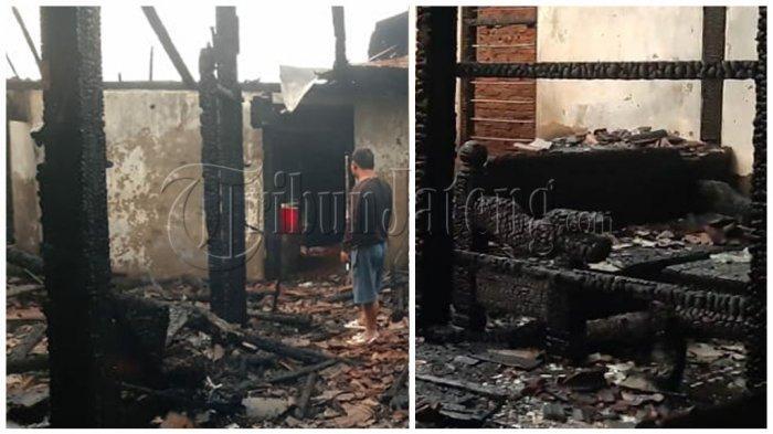 Huda Adu Cepat Lawan Api, Tarik Anak-anak Keluar Rumah, Rp 90 Juta Jadi Arang