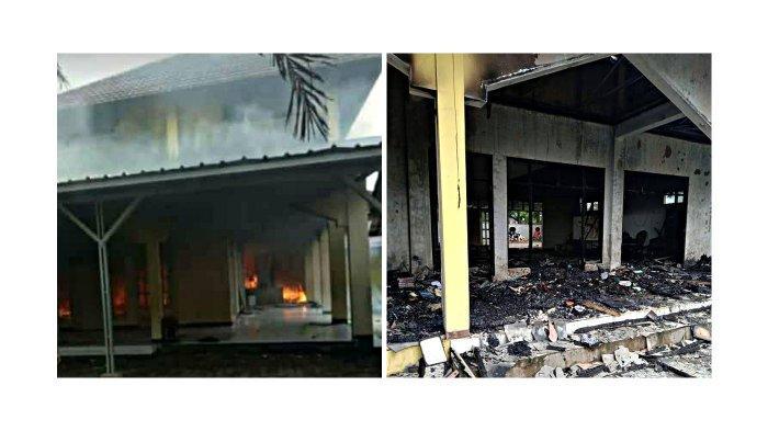 Masjid Umar Bin Khotob Terbakar, Perabotan Ibadah Ludes Jadi Arang