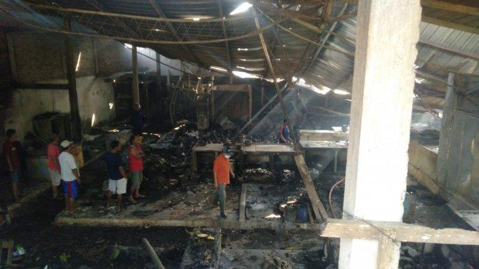 Toa Musala Berisik Suara Orang Teriak Kebakaran, Pedagang Pasar KUD Sukolilo Pati Berlarian