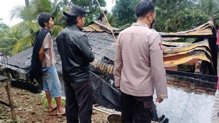 Diduga Korsleting Listrik, Rumah Warga Karangmoncol Purbalingga Terbakar
