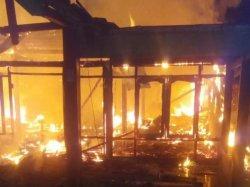 Rumah Munawar di Cepu Blora Ludes Dilalap Api saat Ditinggal ke Pasar