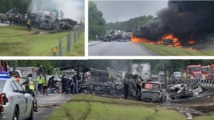 Kecelakaan Beruntun saat Jalan Licin, 15 Mobil Tabrakan 10 Meninggal