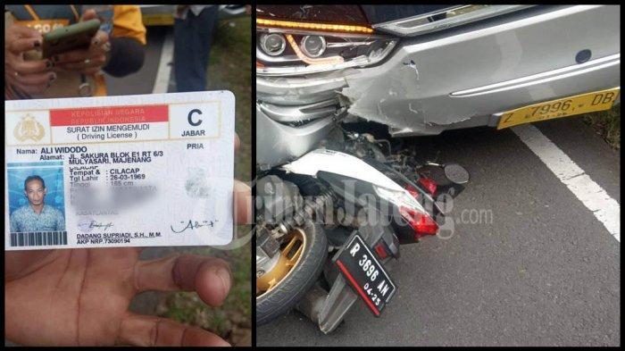 Kecelakaan Motor Tabrak Bus Karunia Bakti di Garut, Korban Ali Widodo Warga Majenang Cilacap