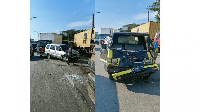 Kecelakaan Beruntun 4 Kendaraan di Arteri Yos Sudarso Semarang, Sopir Truk Tronton Hilang Kendali