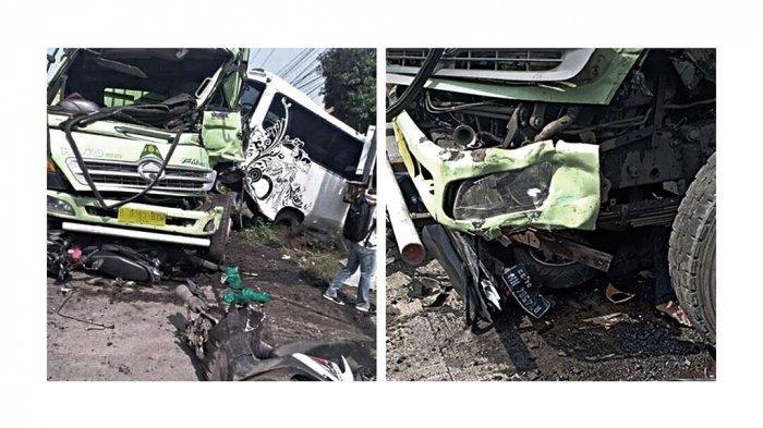 Kecelakaan Maut Truk Rem Blong Tabrak Bus dan 3 Motor Berhenti di Lampu Merah Cilacap