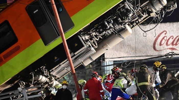 23 Tewas dalam Insiden Rel Layang Ambruk saat Kereta Lewat di Meksiko