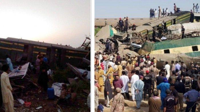 Kecelakaan Maut Kereta Api di Pakistan Hari Ini 30 Orang Meninggal