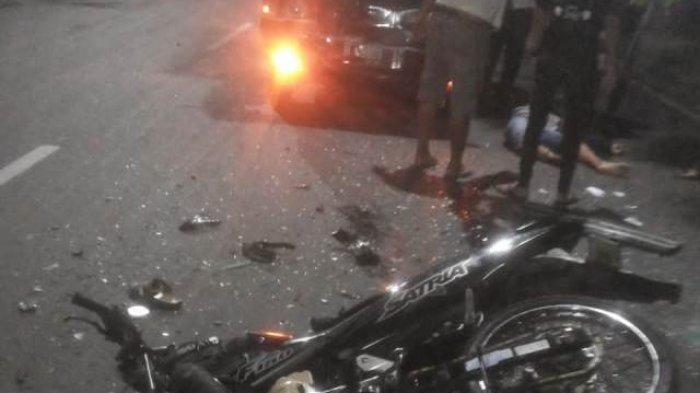 Kecelakaan di Jalan Abdul Rahman Saleh Semarang, Pemotor Terluka Parah Adu Banteng dengan Mobil Boks