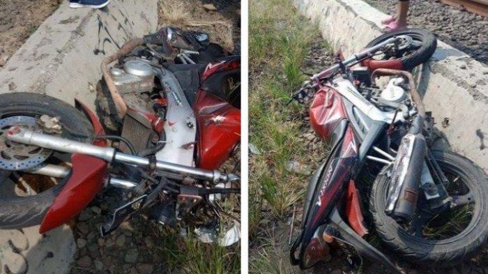 Kecelakaan Maut Pemotor Tertabrak Kereta di Jembatan Gantung Seusai Nekat Terobos Perlintasan