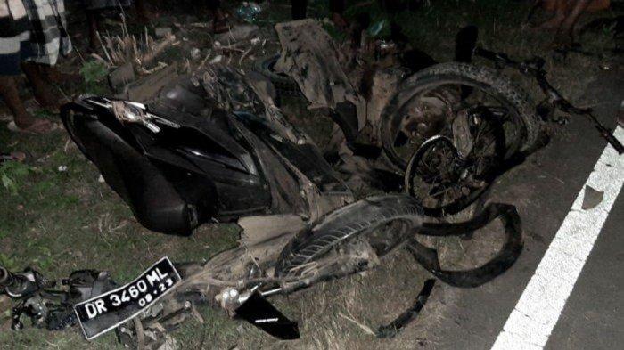Nana Meninggal Kecelakaan, Motornya Hancur Total, Ngebut Tabrak Motor Tanpa Lampu