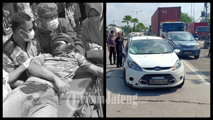 Pemotor Lawan Arah Meninggal Tertabrak Mobil di SPBU Ngempal Kudus