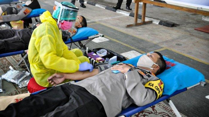 Operasi Aman Nusa II, Polres Wonogiri Gelar Donor Darah