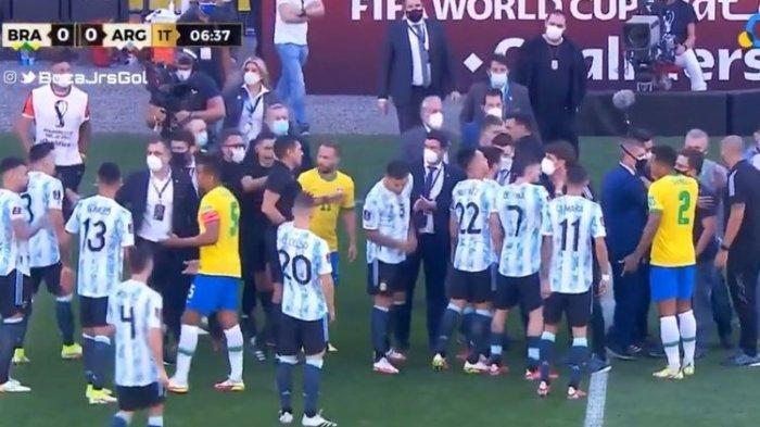 FIFA Turun Tangan Atas Penghentian Laga Brasil Vs Argentina: Ini Gila