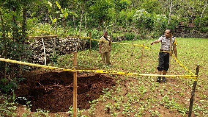 Fenomena Puluhan Tanah Ambles Sinkhole di Gunungkidul Yogya, Pertanda Gempa Besar? Ini Jawaban LIPI