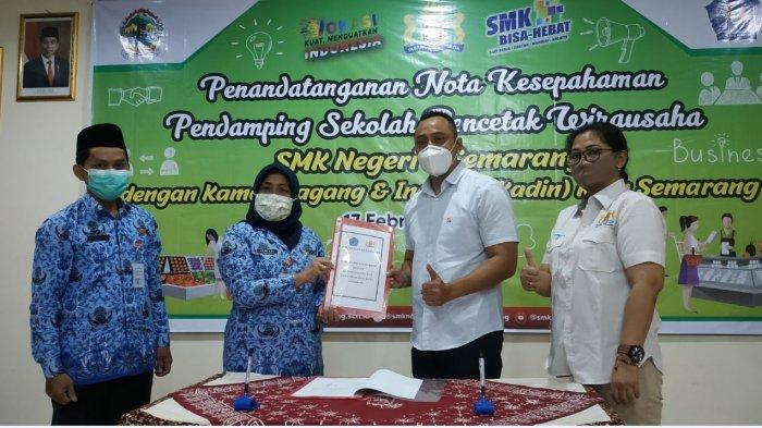 Siapkan Lulusan Siap Jadi Wirausaha, SMKN 6 Semarang Jalin Kerjasama dengan Kadin