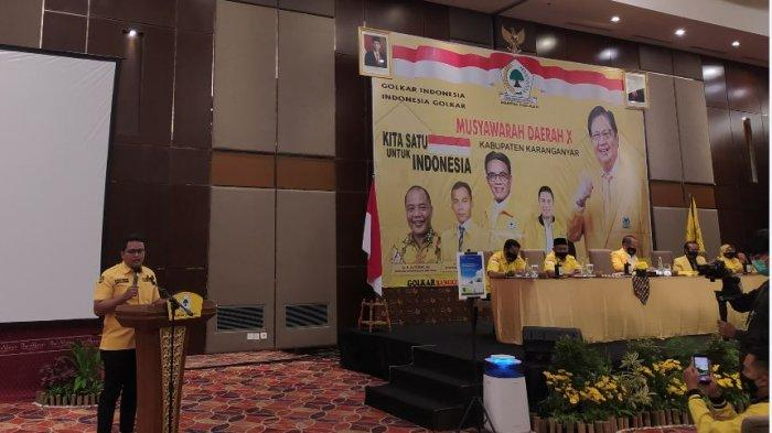 Ilyas Putra Juliyatmono Terpilih Aklamasi Sebagai Ketua DPD Golkar Karanganyar 2021-2025
