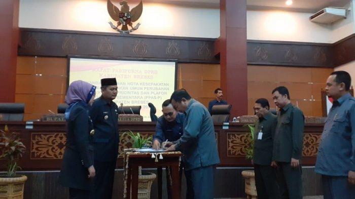 DPRD Brebes Setujui Anggaran Perubahan 2019 Meski Defisit