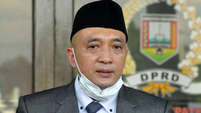 Ketua DPRD Kabupaten Semarang, Bondan Marutohening saat ditemui Tribun Jateng.