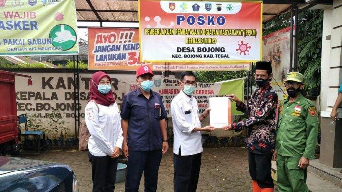 PMI Kabupaten Tegal Beri Bantuan Sembako dan Uang Tunai Kepada Korban Bencana Alam