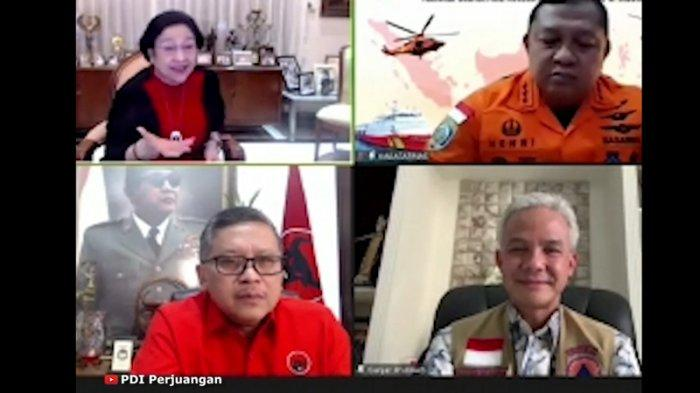 Ketua Umum PDIP Megawati Soekarnoputri secara langsung menegur Gubernur Jawa Tengah Ganjar Pranowo terkait penanganan bencana khususnya banjir rob dan tata kelola pelabuhan di Semarang, Jawa Tengah.