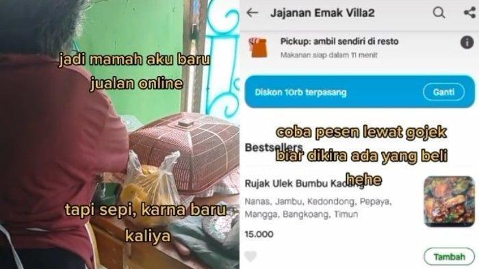 Pemuda Ini Diam-Diam Beli Jualan Ibunya lewat Ojek Online, Tak Tega Lihat Sepi Pembeli