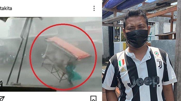 Viral Pedagang Angkringan Tertimpa Baliho Saat Angin Kencang di Karanganyar, Ini Kondisnya Terkini